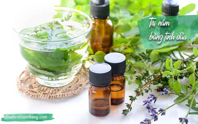 trị nám da mặt từ các loại tinh dầu