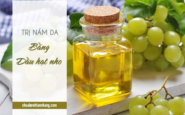 trị nám da mặt từ dầu hạt nho