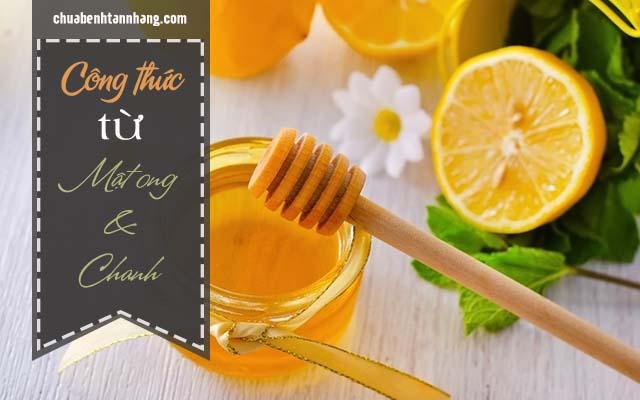 mật ong và chanh chữa tàn nhang ở ngực