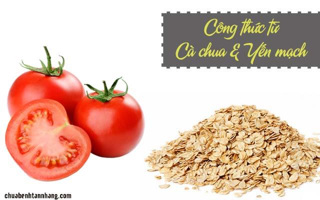 cà chua và yến mạch chữa tàn nhang ở ngực