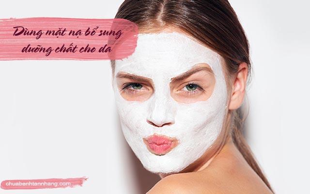 chăm sóc da dầu bị nám bằng cách đắp mặt nạ