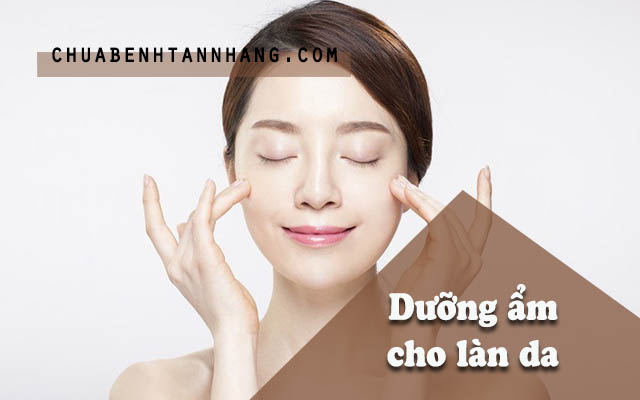 cải thiện tình trạng da bị khô và bong tróc sau khi đốt tàn nhang