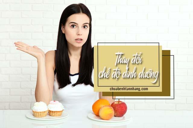 thay đổi chế độ dinh dưỡng là nguyên nhân gây nám da ở bà bầu