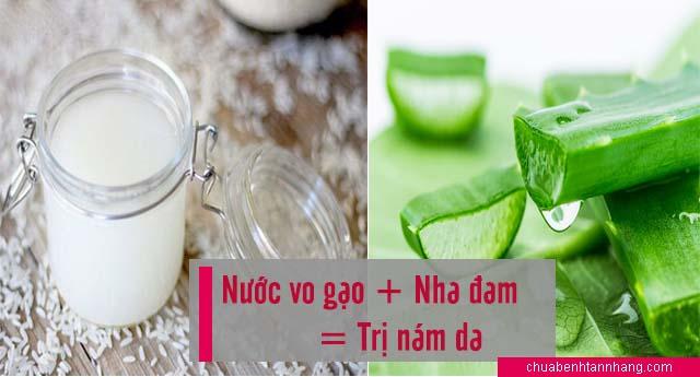 Nước vo gạo và nha đam trị nám da siêu hữu hiệu