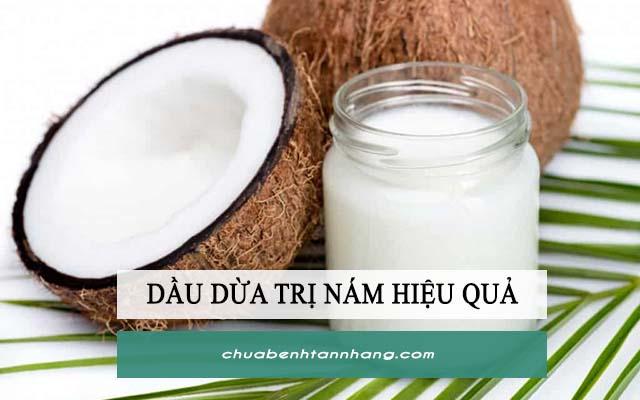 trị nám bằng đu đủ xanh và dầu dừa