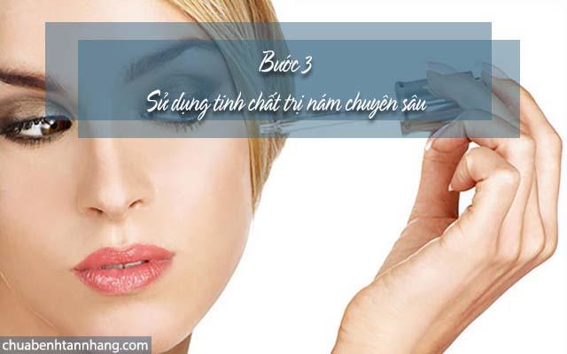 Sử dụng tinh chất chuyên sâu để trị nám cho da hỗn hợp thiên dầu
