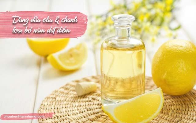 trị nám da bằng dầu oliu và chanh