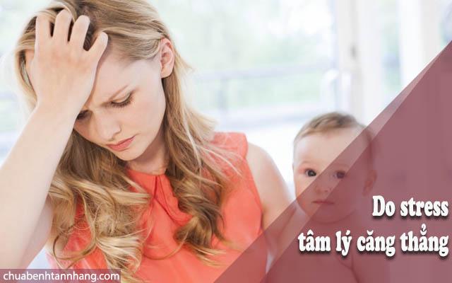 phụ nữ sau sinh bị nám - tàn nhang do stress