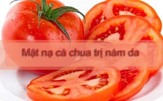 trị nám da bằng cà chua