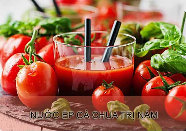 trị nám da bằng nước ép cà chua