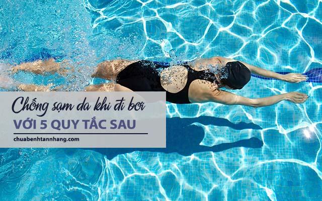 chống sạm da khi đi bơi