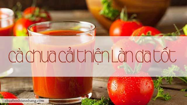 da sạm không đều màu nên ăn cà chua