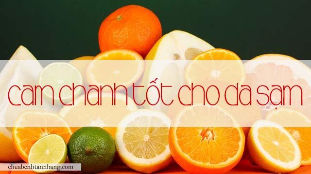 da sạm không đều màu nên ăn cam chanh