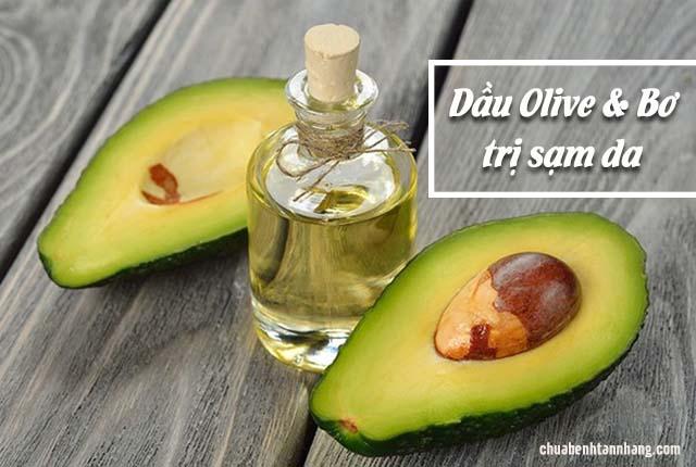 chữa sạm da toàn thân với bơ và dầu olive