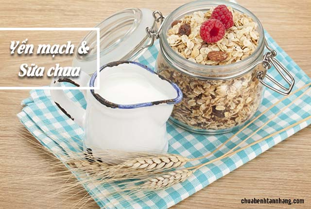 yến mạch và sữa chua chữa sạm da toàn thân hiệu quả