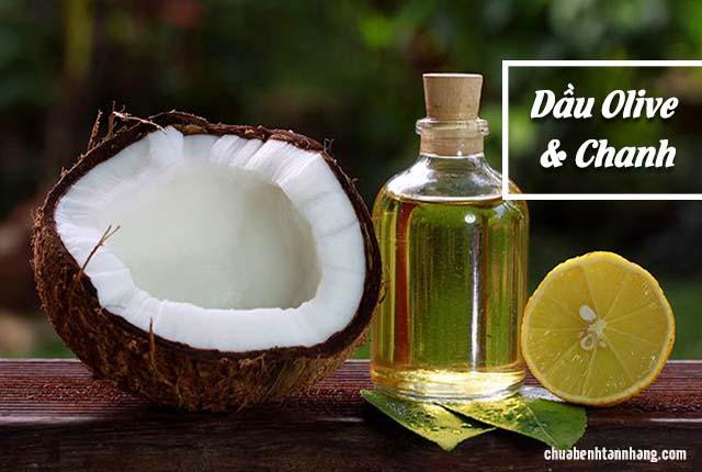 chữa sạm da toàn thân bằng dầu dừa và chanh