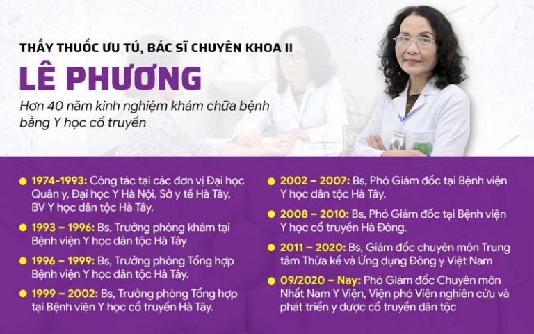 Thầy thuốc ưu tú, bác sĩ Lê Phương - Phó Giám đốc chuyên môn Nhất Nam Y Viện, Viện phó Viện Nghiên cứu và Phát triển Y dược cổ truyền dân tộc
