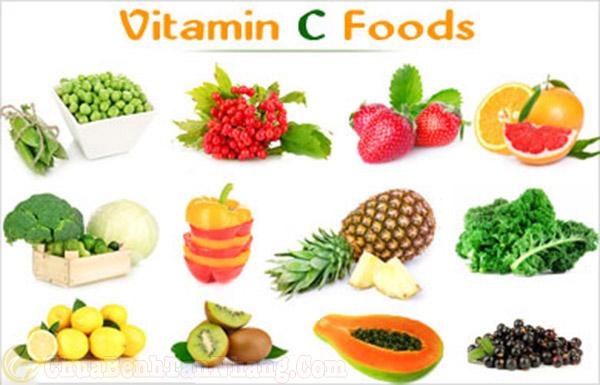 Các loại thực phẩm chứa nhiều vitamin C