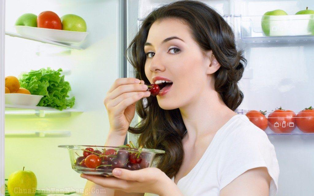 Có chế độ ăn uống hợp lý giúp da khỏe đẹp