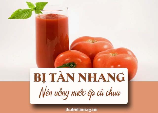 người bị tàn nhang nên bổ sung cà chua