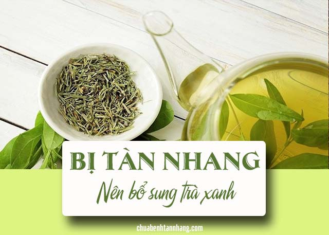 người bị tàn nhang nên bổ sung trà xanh