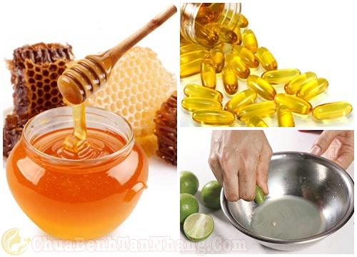 Trị nám da mặt bằng vitamin E, mật ong và chanh tươi