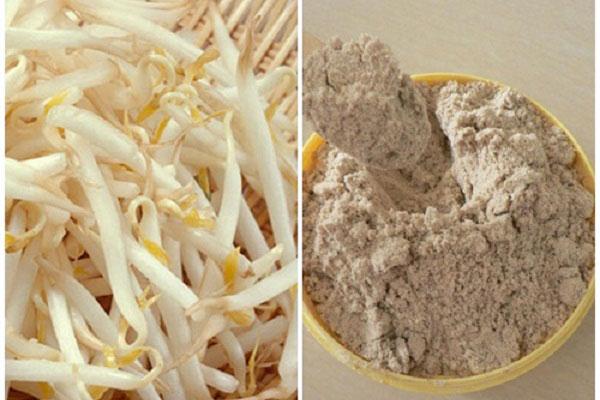 Kết hợp giá đỗ với bộ gạo điều trị nám da