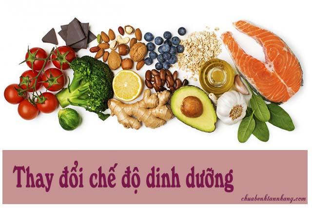 Thay đổi chế độ dinh dưỡng để cải thiện tình trạng sạm da tay
