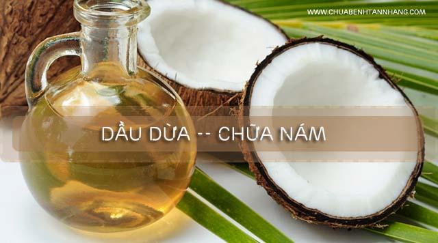 cách chữa nám da từ dầu dừa