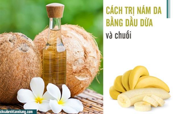 dầu dừa và chuối