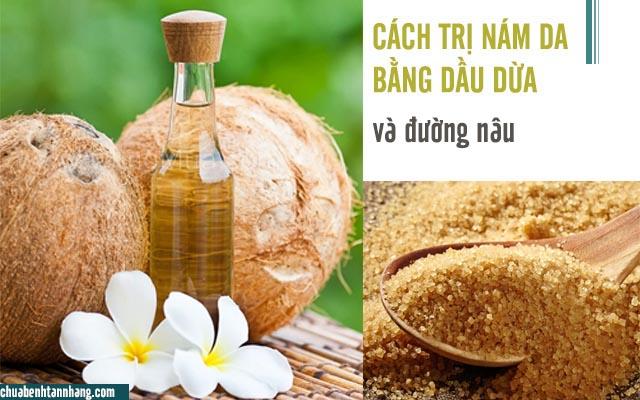 dầu dừa và đường nâu