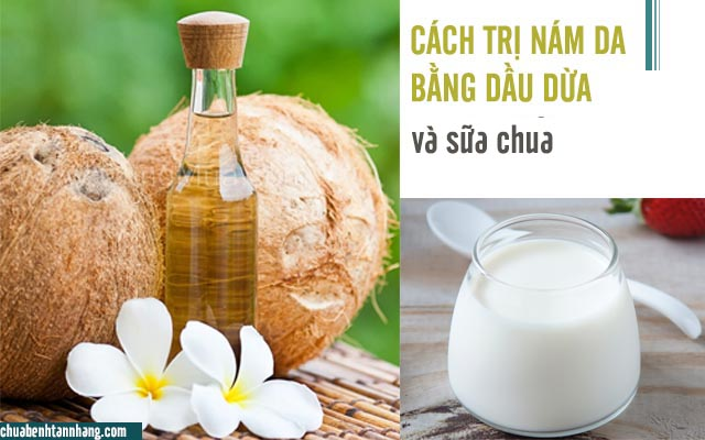 dầu dừa và sữa chua