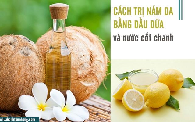 dầu dừa và nước cốt chanh