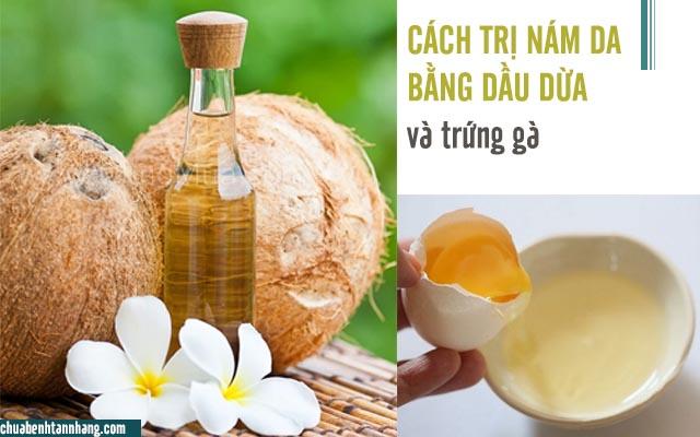 dầu dừa và trứng gà