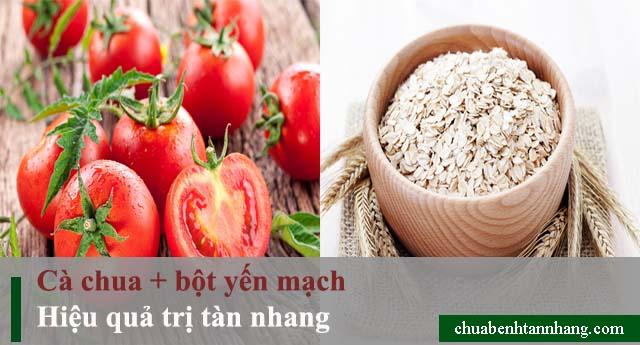 Cà chua và bột yến mạch trị tàn nhang hiệu quả bất ngờ