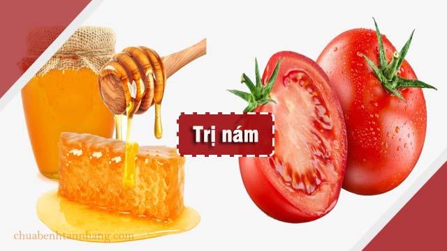 trị nám da bằng mặt nạ cà chua và mật ong