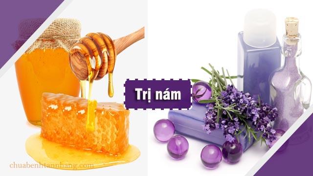 trị nám da bằng mật ong và tinh dầu oải hương