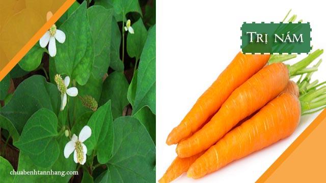 mặt nạ rau diếp cá và cà rốt trị nám da