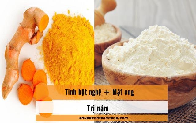 mặt nạ bột nghệ và bột gạo chữa nám da