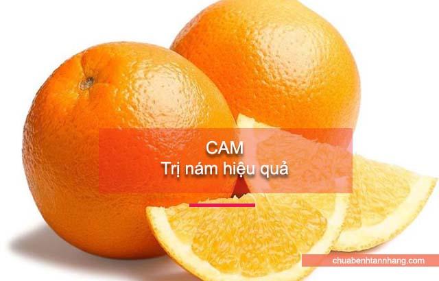 chữa nám da bằng cam