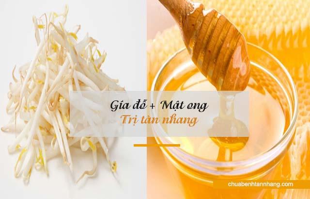 mặt nạ giá đỗ và mật ong chữa tàn nhang