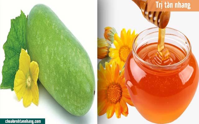 cao bí đao và mật ong chữa tàn nhang