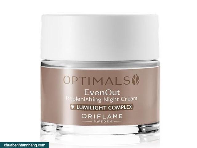 bộ trị nám optimals của oriflame kem dưỡng ban đêm