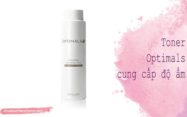 bộ trị nám optimals của oriflame nước cân bằng da