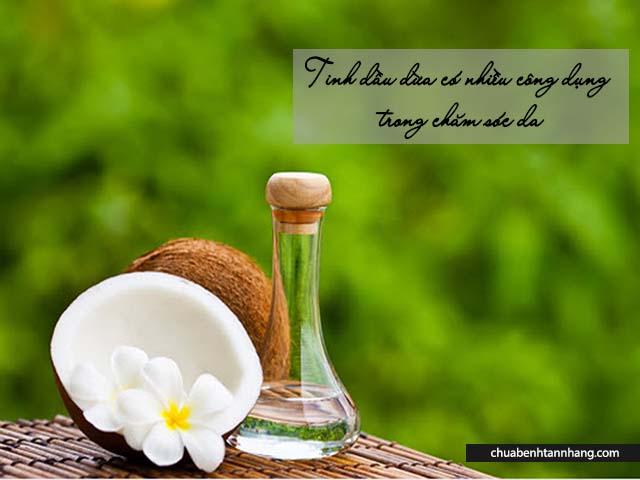cách trị sạm da sau sinh bằng dầu dừa