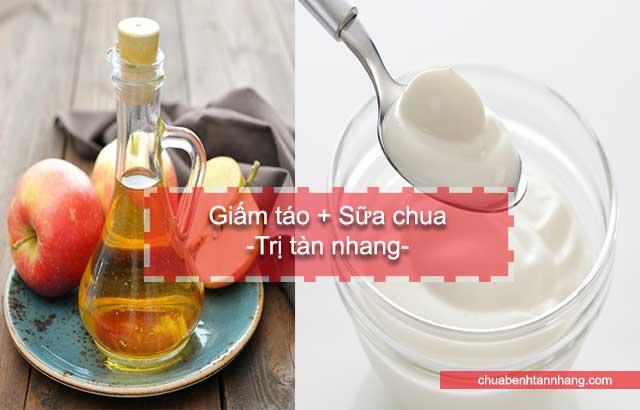 mặt nạ giấm táo và sữa chua chữa tàn nhang
