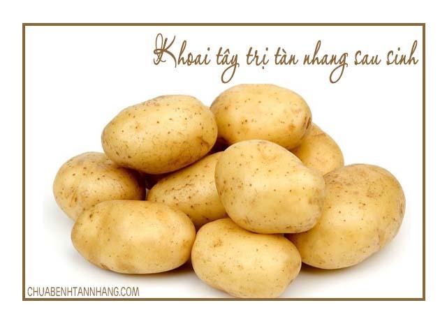 khoai tây trị tàn nhang sau sinh