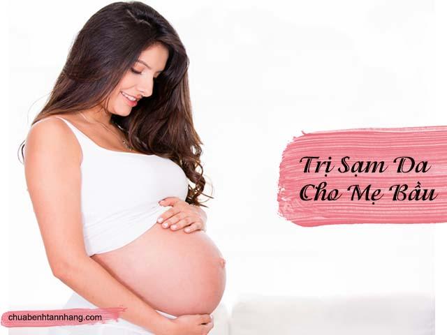 cách trị da sạm đen khi mang thai