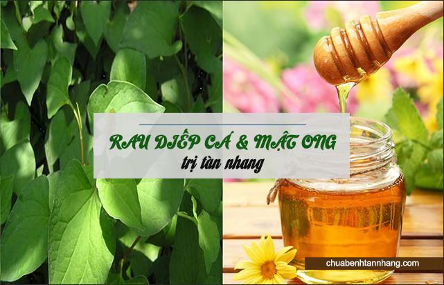 mật ong kết hợp rau diếp cá trị tàn nhang hiệu quả