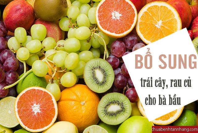 phòng nám da khi mang thai cần bổ sung trái cây